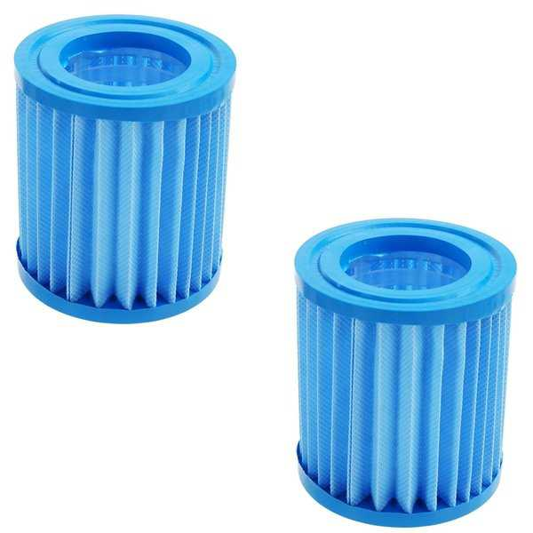 Set of 2 Inorganic Antimicrobial Swimming Pool Replacement Filter Core Cartridges - Blue