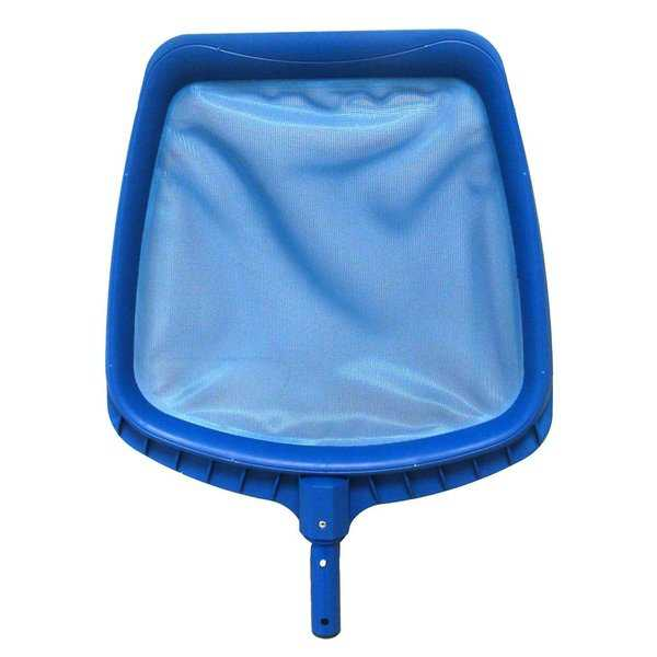 14' Heavy-Duty Blue Plastic Swimming Pool Leaf Skimmer Head