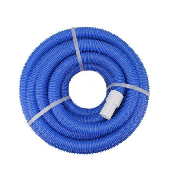 Blue Blow-Molded PE In-Ground Swimming Pool Vacuum Hose - 36' x 1.25'