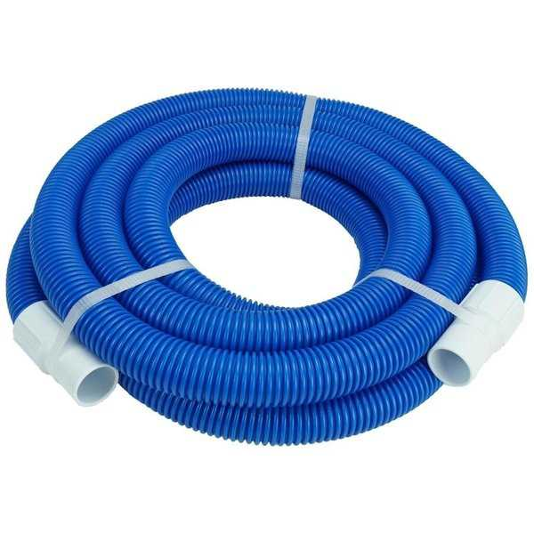 21' Blue Blow Molded PE Vacuum Hose With White Cuffs