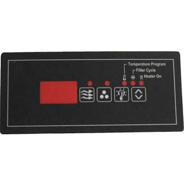 Hydro-Quip ECO-6 Small Rectangle Spaside Label Overlay 4-Button&#44