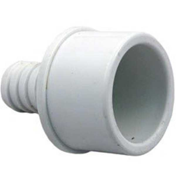 Waterway Plastics 0.75 x 1.5 in. Spigot PVC Ribbed Barb Adapter