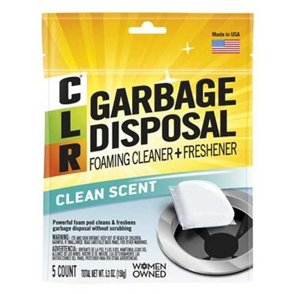 Clear Garbage Disposal Foaming Cleaner & Freshener Pods, Pack